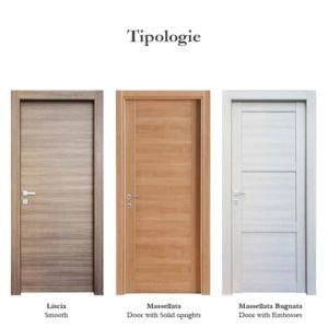 Tipologie porte laminate
